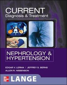 Current diagnosis & treatment: nephrology & hypertension - copertina