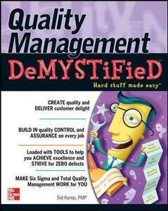 Quality Management Demystified - Sid Kemp - cover