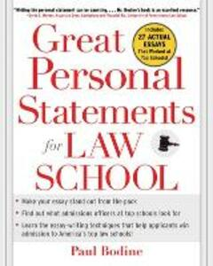Great Personal Statements for Law School - Paul Bodine - cover