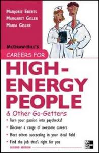 Ebook in inglese Careers for High-Energy People & Other Go-Getters Eberts, Marjorie , Gisler, Margaret , Gisler, Maria