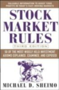 Ebook in inglese Stock Market Rules Sheimo, Michael