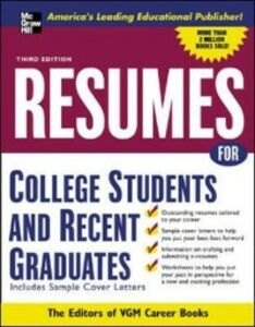 Ebook in inglese Resumes for College Students and Recent Graduates VGM, Editors of