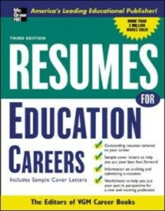 Ebook in inglese Resumes for Education Careers VGM, Editors of