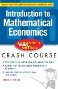 Schaum's Easy Outline of Introduction to Mathematical Economics - Edward T. Dowling - cover