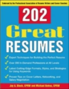 Ebook in inglese 202 Great Resumes Betrus, Michael , Block, Jay A.