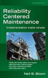 Reliability Centered Maintenance (RCM) - Neil B. Bloom - cover