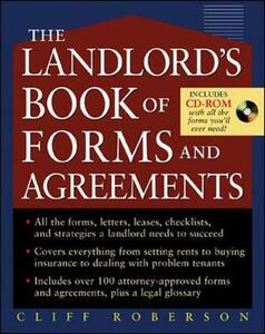 The Landlord's Book of Forms and Agreements - Cliff Roberson - cover