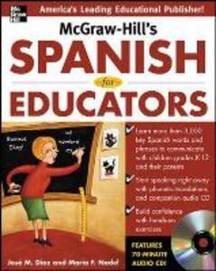 McGraw-Hill's Spanish for Educators w/Audio CD - Jose Diaz,Maria F. Nadel - cover
