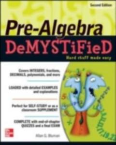 Ebook in inglese Pre-Algebra Demystified Bluman, Allan