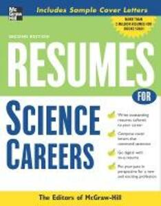 Resumes for Science Careers - McGraw-Hill Education - cover