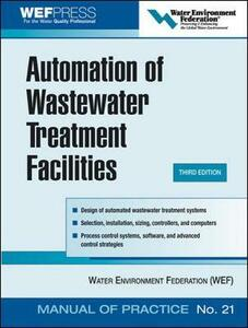 Automation of Wastewater Treatment Facilities - MOP 21 - Water Environment Federation - cover