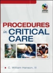 Procedures in critical care - C. William Hanson - copertina