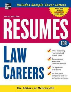 Resumes for Law Careers - McGraw-Hill Education - cover