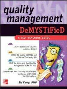 Ebook in inglese Quality Management Demystified Kemp, Sid