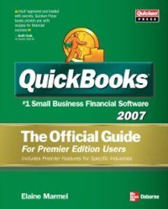 Foto Cover di QUICKBOOKS 2007: THE OFFICIAL GUIDE, PREMIER EDITION, Ebook inglese di Elaine Marmel, edito da McGraw-Hill Education