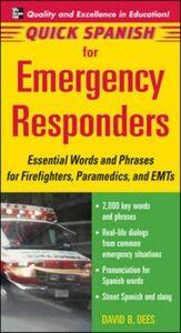 Ebook in inglese Quick Spanish for Emergency Responders Package (Book + 1CD) Dees, David