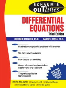 Ebook in inglese Schaum's Outline of Differential Equations, 3rd edition Bronson, Richard , Costa, Gabriel
