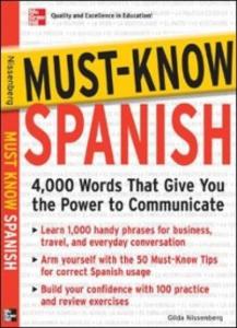 Ebook in inglese Must-Know Spanish Nissenberg, Gilda