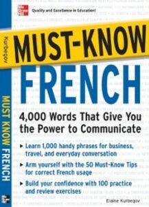 Ebook in inglese Must-Know French Kurbegov, Eliane