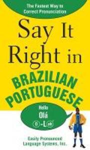 Say It Right in Brazilian Portuguese - EPLS - cover