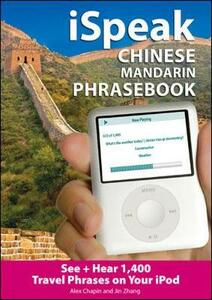 iSpeak Chinese  Phrasebook (MP3 CD + Guide) - Alex Chapin - cover