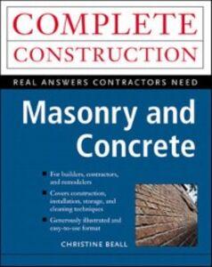 Foto Cover di Masonry and Concrete, Ebook inglese di Christine Beall, edito da McGraw-Hill Education