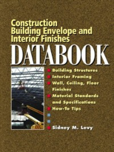 Ebook in inglese Building Envelope and Interior Finishes Databook Levy, Sidney