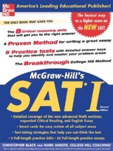 Foto Cover di McGraw-Hill's SAT I, Second edition, Ebook inglese di Mark Anestis,Christopher Black, edito da McGraw-Hill Education