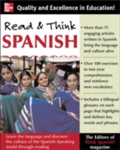 Ebook in inglese Read And Think Spanish (Book) Spanish, The Editors of Think