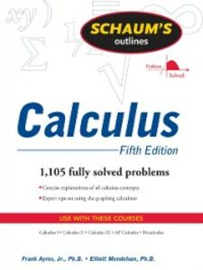 Foto Cover di Schaum's Outline of Calculus, 5ed, Ebook inglese di Frank Ayres,Elliott Mendelson, edito da McGraw-Hill Education