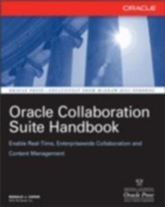 Ebook in inglese Oracle Collaboration Suite Handbook Zapar, Ronald
