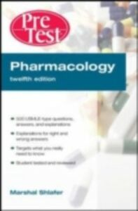 Ebook in inglese Pharmacology PreTest Self-Assessment and Review, 12th Edition Shlafer, Marshal