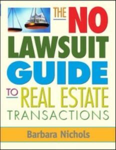Foto Cover di No Lawsuit Guide to Real Estate Transactions, Ebook inglese di Barbara Nichols, edito da McGraw-Hill Education
