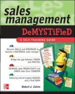 Ebook in inglese Sales Management Demystified Calvin, Robert