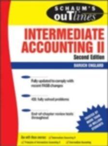 Foto Cover di Schaum's Outline of Intermediate Accounting II, Second Edition, Ebook inglese di Baruch Englard, edito da McGraw-Hill Education