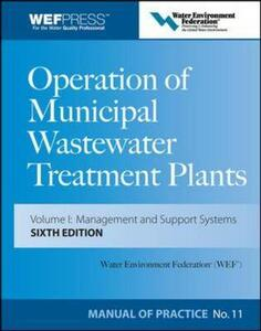 Operation of Municipal Wastewater Treatment Plants: Manual of Practice 11 - Water Environment Federation - cover
