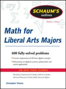 Ebook in inglese Schaum's Outline of Mathematics for Liberal Arts Majors Thomas, Christopher