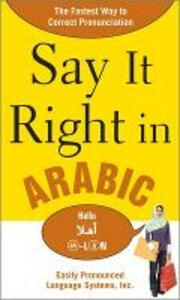 Say It Right in Arabic - EPLS - cover