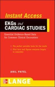 Ebook in inglese LANGE Instant Access EKGs and Cardiac Studies Patel, Anil