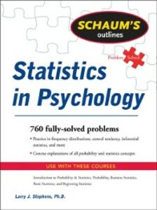Ebook in inglese Schaum's Outline of Statistics in Psychology Stephens, Larry