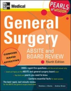 Ebook in inglese General Surgery ABSITE and Board Review: Pearls of Wisdom, Fourth Edition Blecha, Matthew