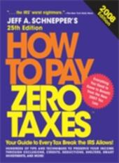 How to Pay Zero Taxes, 2008