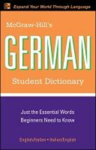 McGraw-Hill's German Student Dictionary - Erick Byrd - cover