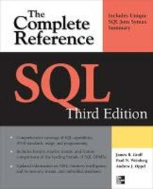 SQL: the complete reference - Paul Weinberg,James Groff,Andrew Oppel - copertina