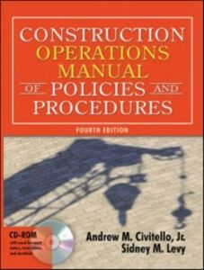 Ebook in inglese Construction Operations Manual of Policies and Procedures Civitello, Andrew , Levy, Sidney
