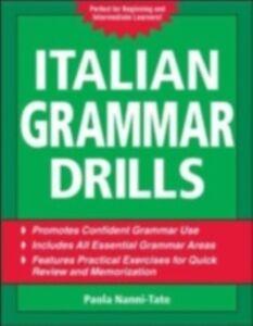 Ebook in inglese Italian Grammar Drills Nanni-Tate, Paola