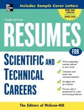 Resumes for Scientific and Technical Careers
