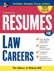 Ebook in inglese Resumes for Law Careers McGraw-Hill Educatio, cGraw-Hill Education