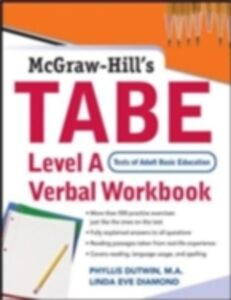 Foto Cover di TABE Level A Verbal Workbook, Ebook inglese di Linda Eve Diamond,Phyllis Dutwin, edito da McGraw-Hill Education