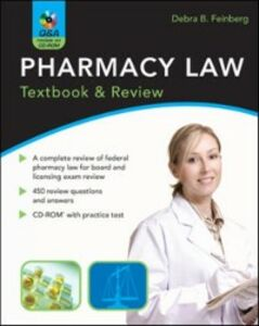 Ebook in inglese Pharmacy Law: Textbook & Review Feinberg, Debra